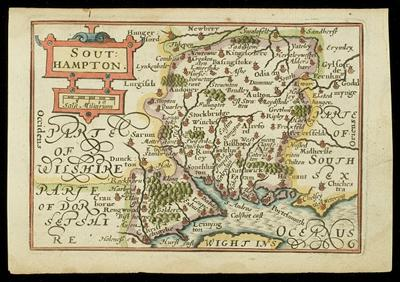 Early seventeenth-century map of Hampshire