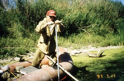 Sampling from the bed of the River Nura