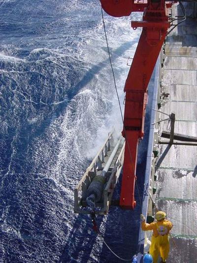 Coring the Mediterranean deep sea: Credit Professor Eelco Rohling