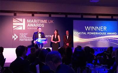 Maritime UK Awards acceptance speech