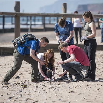 Beach litter survey