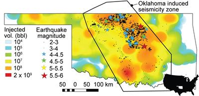 Earthquakes & wastewater injection, Oklahoma, USA