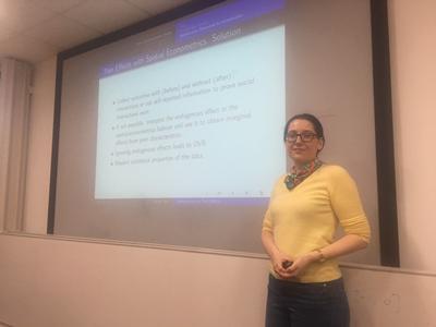 Eirini Tatsi, Speaker at the Econometrics Workshop