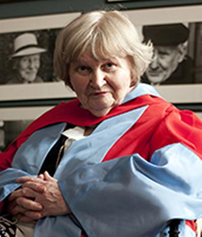 Awarded an honorary Doctor of Literature
