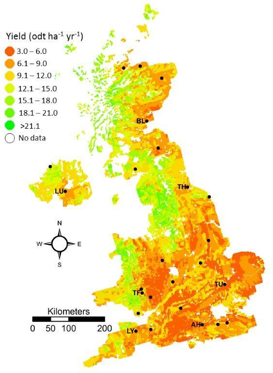 Map Of Uk 2050.Mapping The Supply And Demand Of Bioenergy In Great Britain To 2050