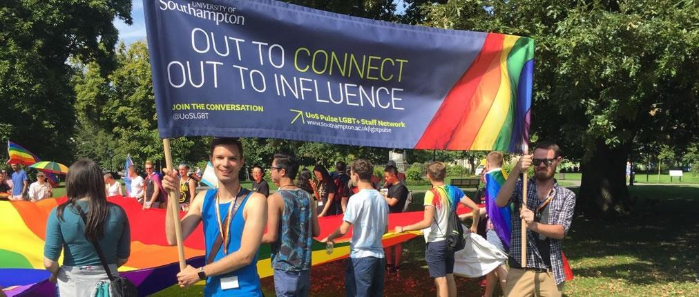 Pride Banner parade