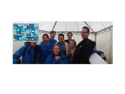 NAMRIP team take shelter from the rain