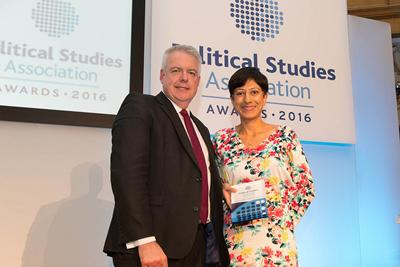 Katie Ghose receives award from Wales First Minister Carwyn Jones