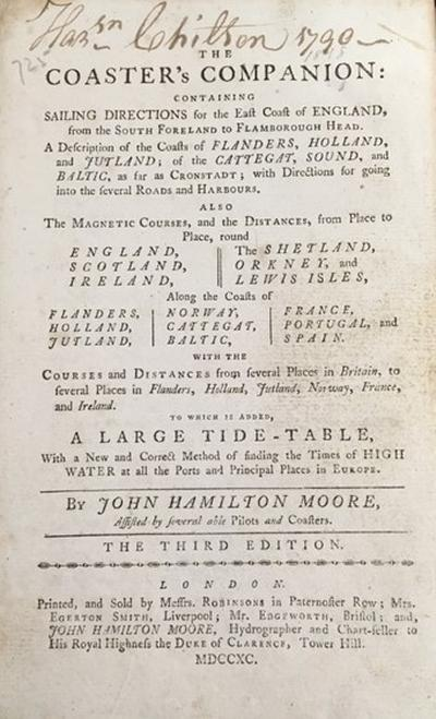 John Hamilton Moore The Coaster's Companion 3rd ed. (London, 1799)