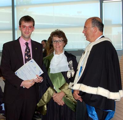 Marco Facciotti, Professor Lorenza Operti and Professor Gianmaria Ajani
