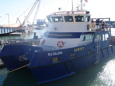The University's research vessel, Callista