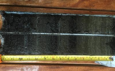 Core sample taken from Lake Te Roto on Atiu