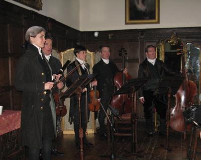 Southampton staff and students on set at Chawton House