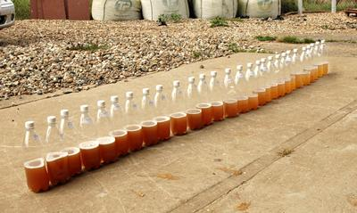 showing progressively cleaner leachate over time