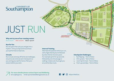 Wide Lane Sports Ground Running Routes (click on image to enlarge)
