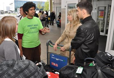 A Meet and Greet service is available to our international students on arrival in the UK