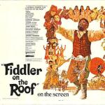 A 1971 poster for the Fiddler on the Roof film.