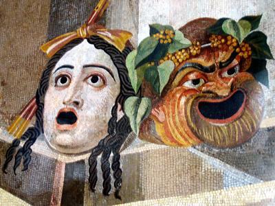 Tragic comic masks