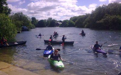 Kayaking on the River Itchen