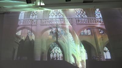 Light in a church
