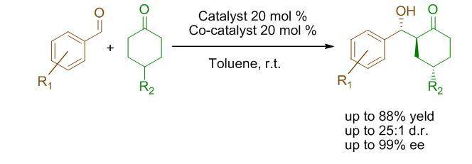 Aldol desymmetrization reaction