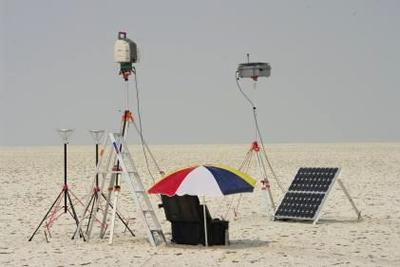 Measuring surface roughness and dust flux at Sua Pan, Botswana, August 2011