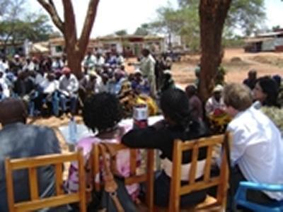 Discussing in Kitonyoni