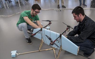 Testing aircraft in one of our design studios