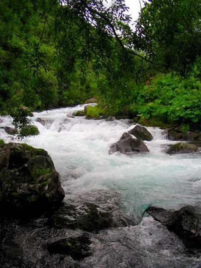 Río de erosión volcánica