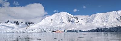 Sampling the melting glacier
