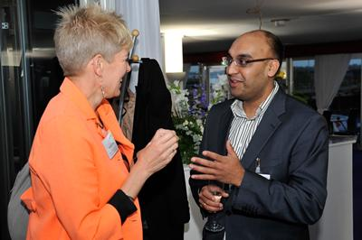 Prof Michelle Lowe, Associate Dean, Faculty of Business & Law with Amarjit Singh, Dutton Gregory