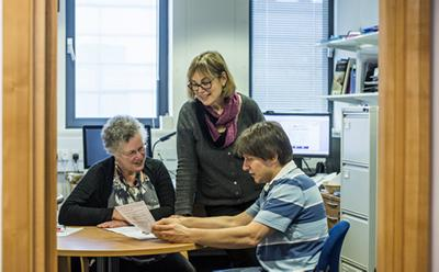 Professor Anne Rogers and her team
