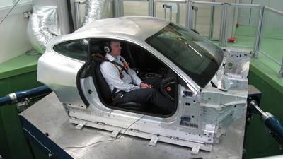 The multi-axis simulator in the Human Factors Research Unit, where the research will be conducted.