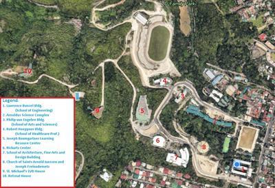 Campus buildings (Google Earth image capture)