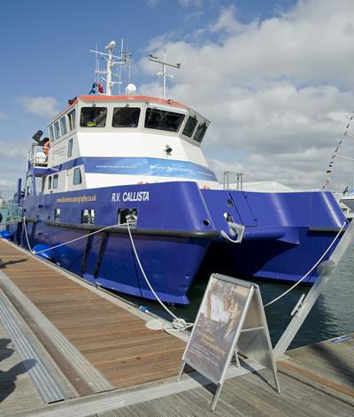 Our research vessel R.V. Callista