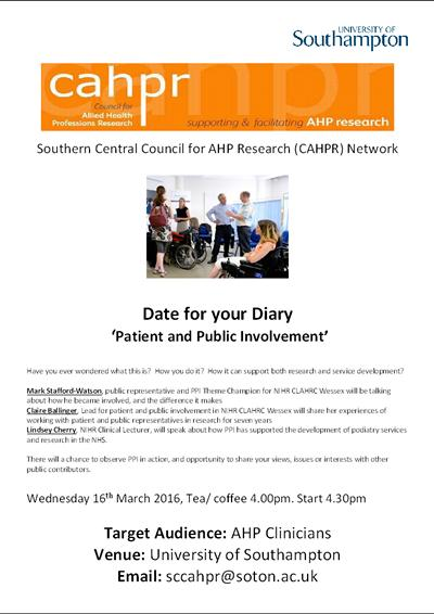 SC CAHPR workshop 16 March 2016