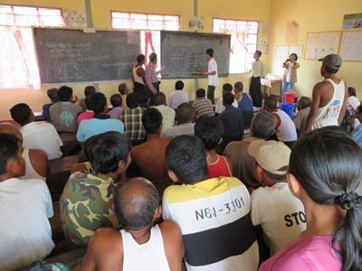 Participatory workshop - applying TESSA at Moeyungyi Wetland