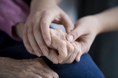 Image of elderly hands