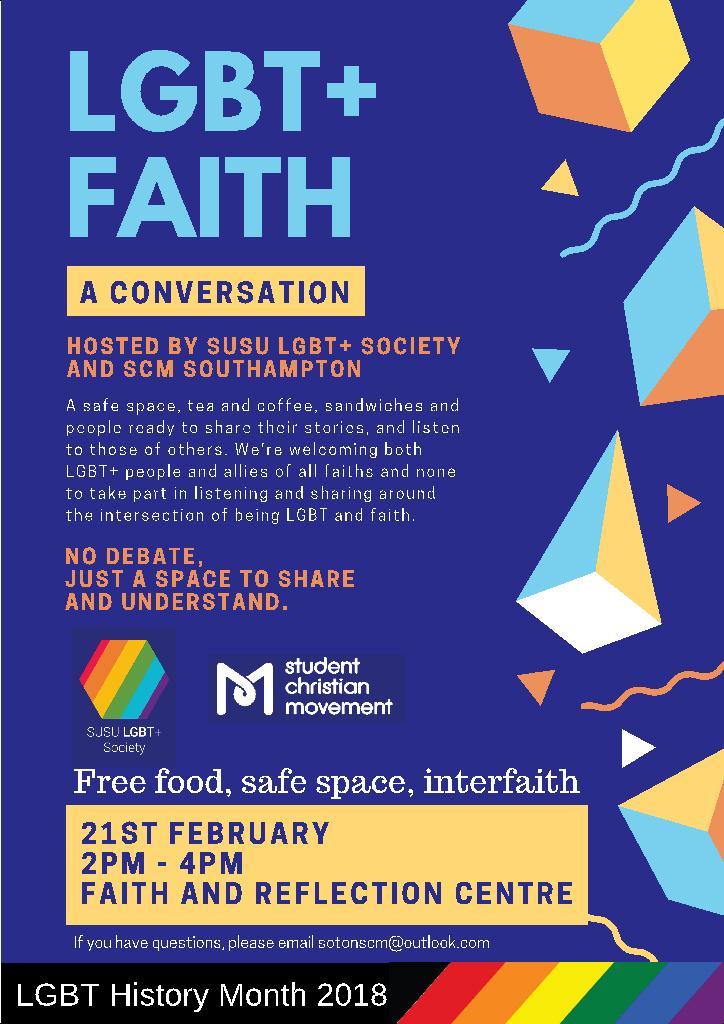 LBGT+ Faith – a conversation