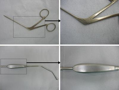 Variation of surface finishes between surgical instruments