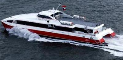 Red Funnel ferry used for equipment tests