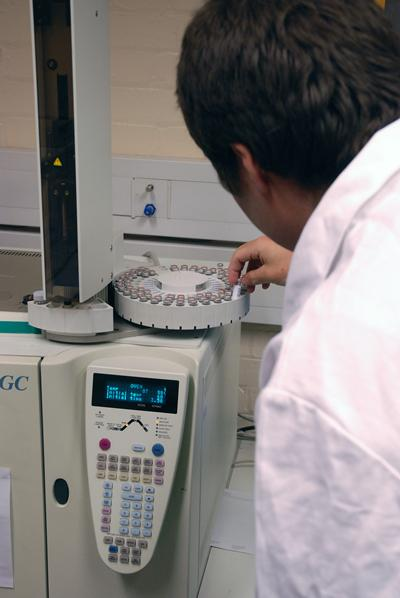 We have a range of spectrometers capable of analysing a variety of sample types