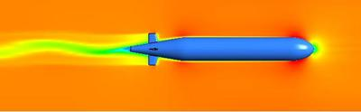 CFD simulations of the fluid flow around the Autosub3 AUV