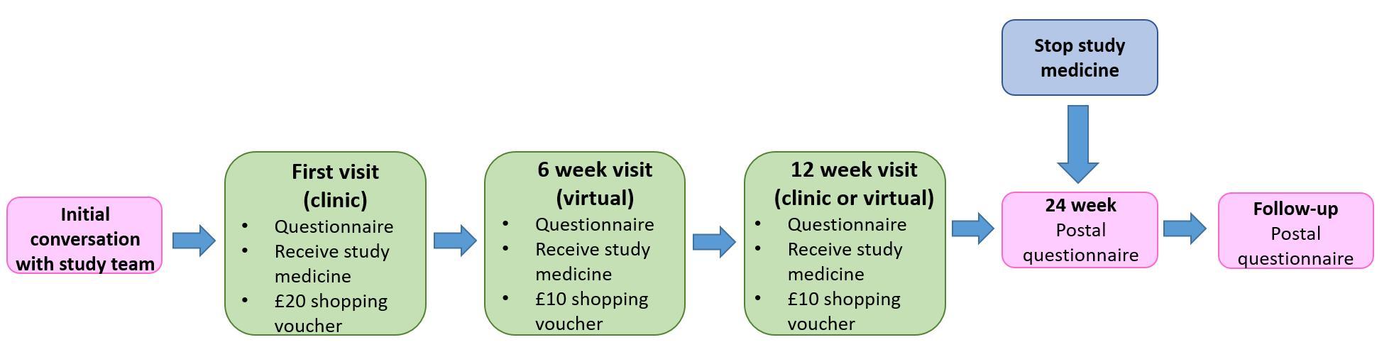 Timeline of SAFA study