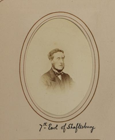 Fig. 2 Photograph of the 7th earl of Shaftsbury, the Broadlands Archive, Harley Library, University of Southampton