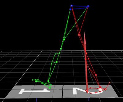 Using motion capture, with ground reaction forces