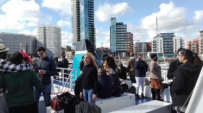Students enjoying the boat trip