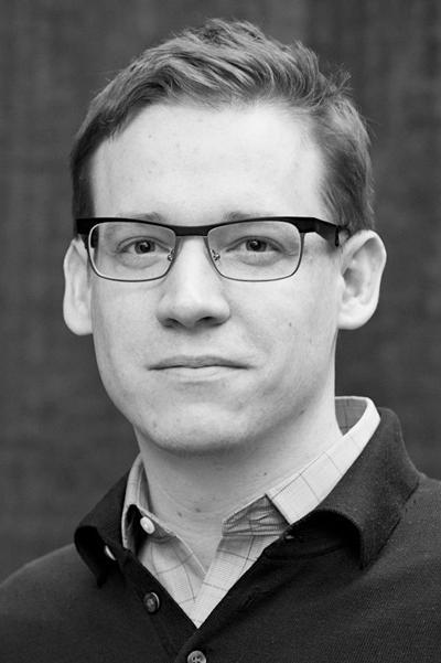 Portrait black and white photo of Dr Jacob S. Eder