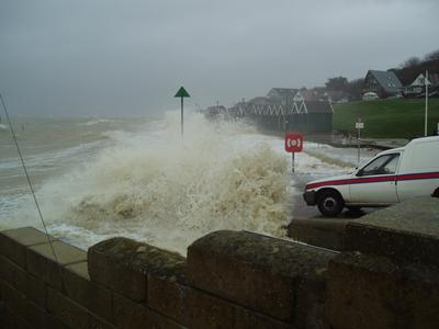 Extreme waves can result in flooding (Photo: RJ Nicholls)