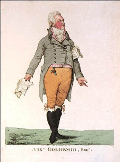 "Portrait of financier and philanthropist Abraham Goldsmid (c.1756-1810) by Dighton, 1806 (""Courtesy of Jewish Museum London"")"